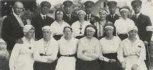 1919 Taani arstid ja halastajaõed. Foto: Rahvusarhiiv