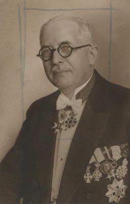 Ernst Carlsen, Eesti aupeakonsul Kopenhaagenis 14.06.1933. Foto: Rahvusarhiiv
