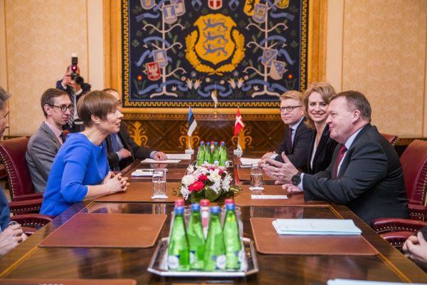 2018 Lars Lokke Rasmussen kohtumas Eesti presidendi Kersti Kaljulaidiga. Foto: Taani saatkond Tallinnas