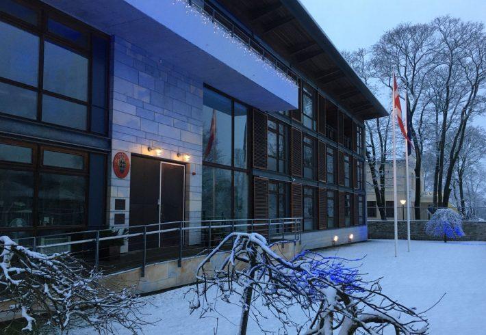 Taani saatkond Wismarir tänaval. Foto: Taani saatkond Tallinnas